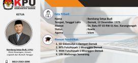 Ketua KPU Demak  2018 – 2023 : Bambang Setya Budi